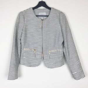 Katherine Barclays Striped Cropped Blazer S